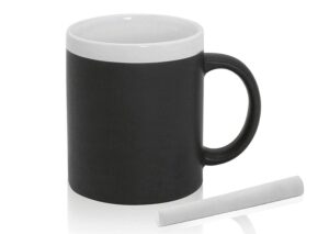 Sustainable ceramic mug with blackboard