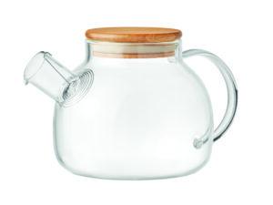 Bæredygtig tepotte i borosilikat kvalitets glas med låg.