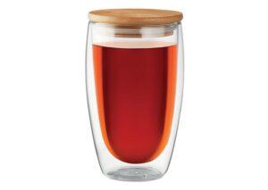 Miljøvenligt tMiljøvenligt to go termokrus i glas med bambuslågo go termokrus med bambuslåg