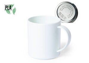 Miljøvenligt drikkekrus i 100% komposterbar bioplast