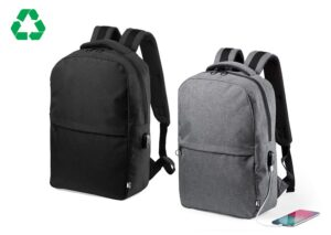 Miljøvenlig rygsæk recycled med mobil ladefuktion