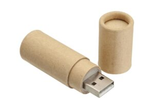 Miljøvenlig USB flash drive i bambus og stål 16GB