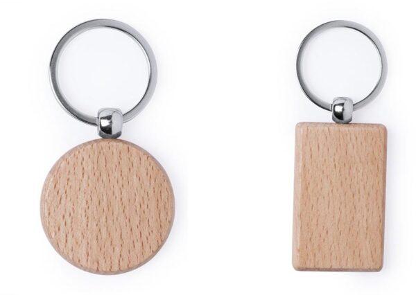 Miljøvenlig nøglering i bøgetræ med eller uden logotryk