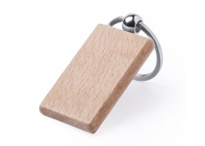 Environmentally friendly beech wood keychain with or without logo print