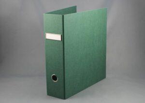 Brevordner i bæredygtigt FSC certificeret genbrugspap - grøn
