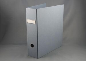 Letter binder made from sustainable FSC certified recycled cardboard - dust blue