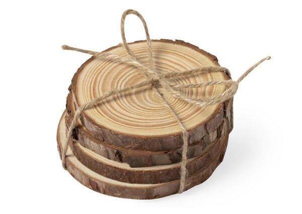 Coaster i miljøvenlig fyrretræ 100% bionedbrydelig