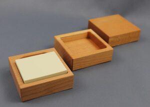 3-delt skrivebordssæt i europæisk kirsebærtræ