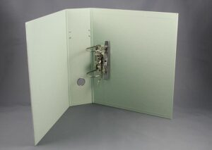 Letter binder made from sustainable FSC certified recycled cardboard - mint
