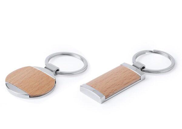Nøglering i bøgetræ og rusfri stål