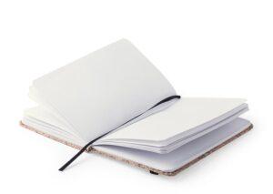 Notesbog A6 hardcover i miljøvenlig kork med elastik