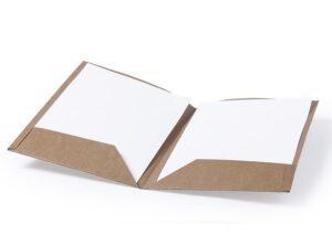 Bæredygtig salgsmappe / folder i genbrugsmaterialer