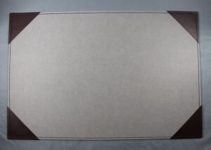 Writing pad made from fsc certified recycled paper with leather corners - gray
