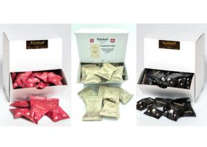 100 stk. Økologisk chokolade drage elmelund chokolade organisk flowpakket til-virksomheden