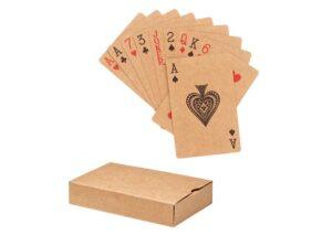 Spillekort af bæredygtigt genbrugspapir