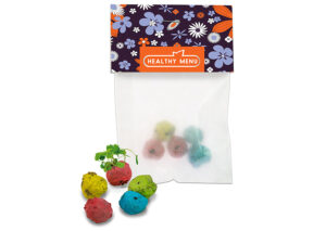 Farverige-mini-blomsterbolde-pose+bolde